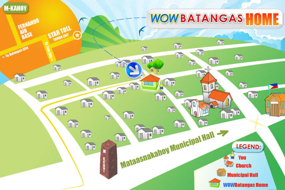 Click for a larger map to the WOWBatangas HOME