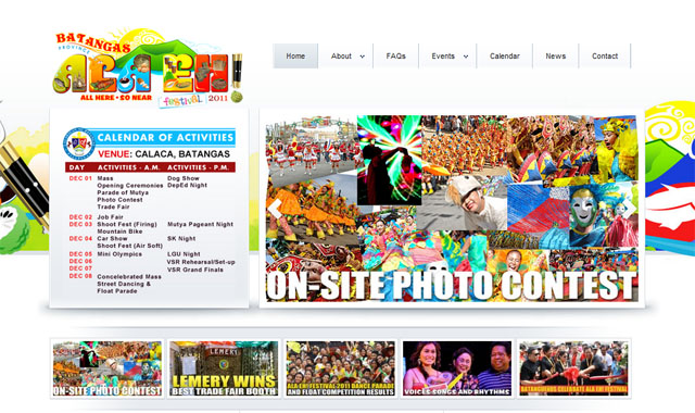 alaehfestivalwebsite | website development team in Batangas